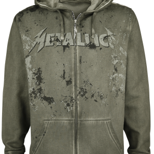 Metallica - EMP Signature Collection - Hooded zip - olive product image at Soundorabilia.com
