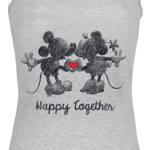 Mickey Mouse - Happy Together - Girls Top - mottled grey product image at Soundorabilia.com