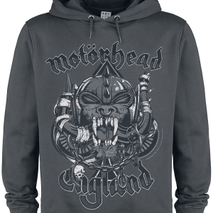 Motörhead - Amplified Collection - Snaggletooth Crest - Hooded sweatshirt - charcoal product image at Soundorabilia.com