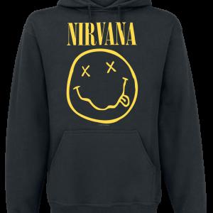 Nirvana - Smiley - Hooded sweatshirt - black product image at Soundorabilia.com