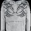 Outer Vision - Shoulder Tattoo - Hooded sweatshirt - grey product image at Soundorabilia.com