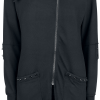 Poizen Industries - Diem Cardigan - Girls' cardigan - black product image at Soundorabilia.com