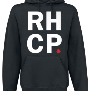 Red Hot Chili Peppers - Stacked Asterisk - Hooded sweatshirt - black product image at Soundorabilia.com