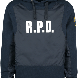 Resident Evil - Racoon Police Department - Hooded sweatshirt - blue-black product image at Soundorabilia.com