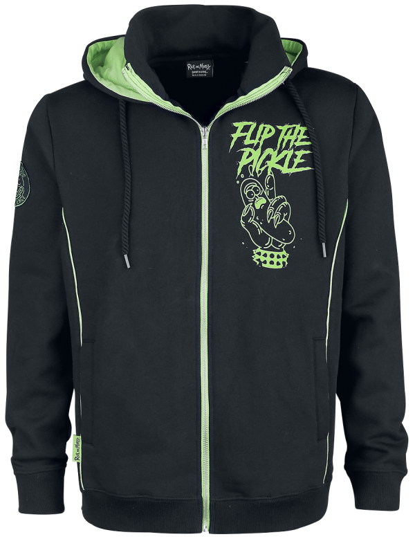 Rick And Morty - Pickle Rick - Hooded zip - black-green product image at Soundorabilia.com