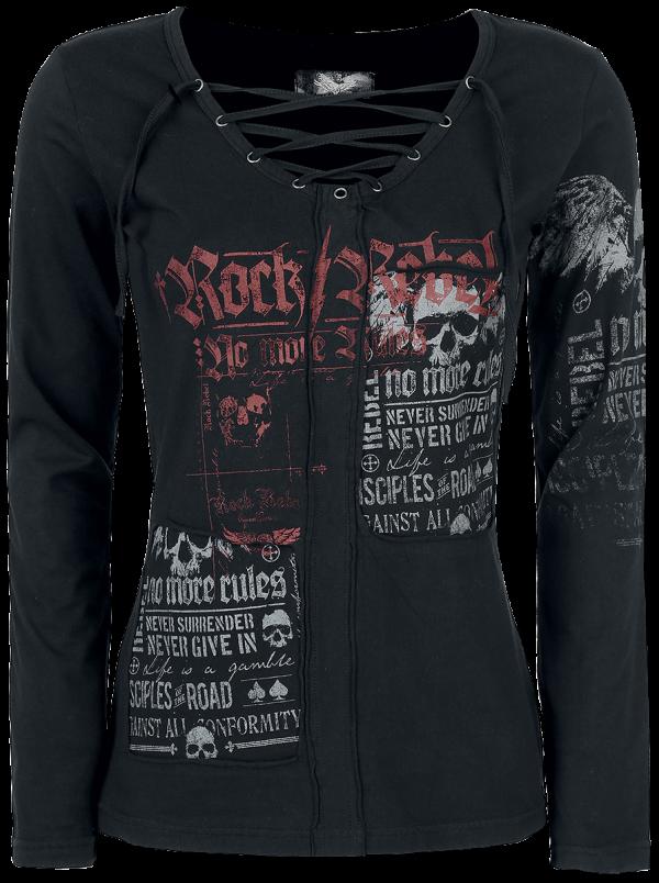 Rock Rebel by EMP - Stay Awake - Girls longsleeve - black product image at Soundorabilia.com