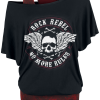 Rock Rebel by EMP - When The Heart Rules The Mind - Girls shirt - black product image at Soundorabilia.com