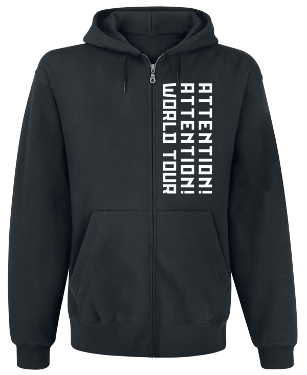 Shinedown - Big Attention Hoodie - Hooded zip - black product image at Soundorabilia.com