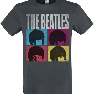The Beatles - Amplified Collection - Hard Days Night - T-Shirt - charcoal product image at Soundorabilia.com