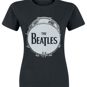 The Beatles - Drum Black Caviar - Girls shirt - black product image at Soundorabilia.com