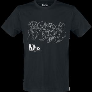 The Beatles - Lines - T-Shirt - black product image at Soundorabilia.com