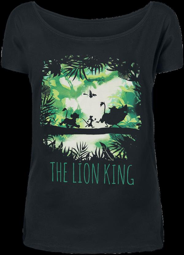 The Lion King - Walking Through The Jungle - Girls shirt - black product image at Soundorabilia.com