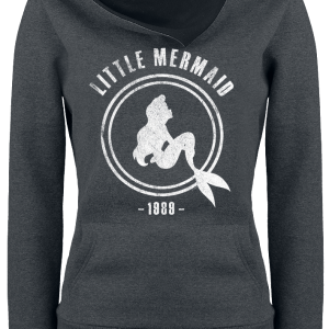 The Little Mermaid - 1989 - Girls hooded sweatshirt - mottled dark grey/black product image at Soundorabilia.com