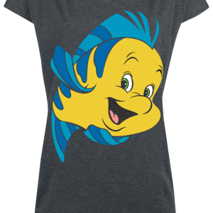 The Little Mermaid - Flounder - Girls shirt - mottled grey product image at Soundorabilia.com
