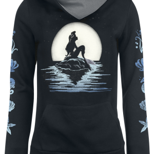 The Little Mermaid - Moonshine - Girls hooded sweatshirt - black-grey product image at Soundorabilia.com