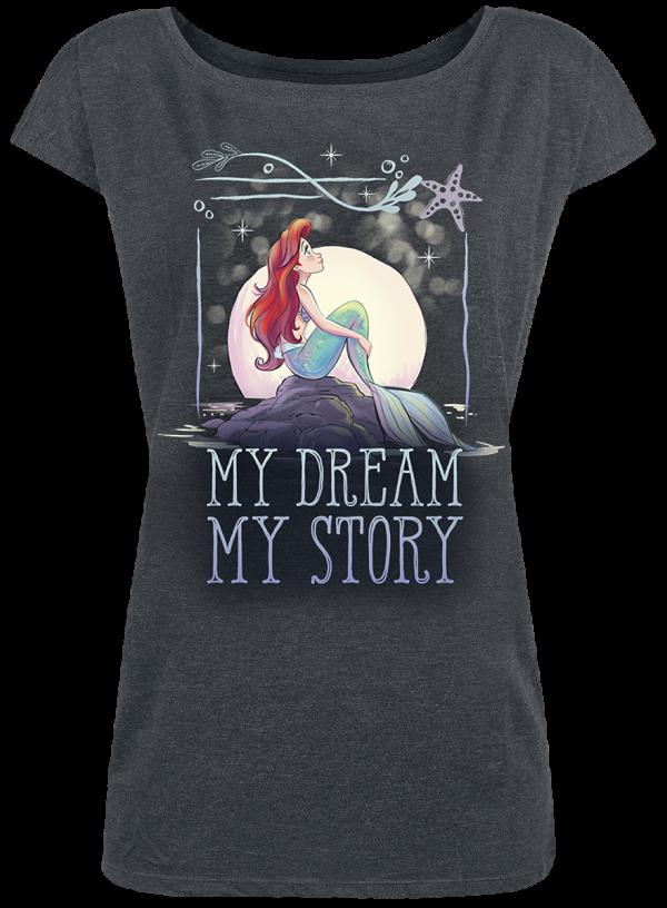 The Little Mermaid - My Dream - Girls shirt - mottled grey product image at Soundorabilia.com