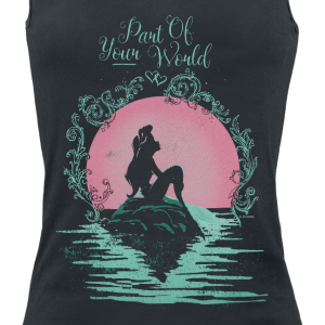 The Little Mermaid - Part Of Your World - Girls Top - black product image at Soundorabilia.com