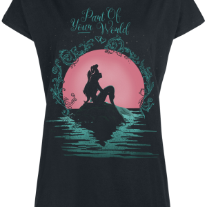 The Little Mermaid - Part Of Your World - Girls shirt - black product image at Soundorabilia.com