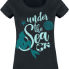 The Little Mermaid - Under The Sea - Girls shirt - black product image at Soundorabilia.com