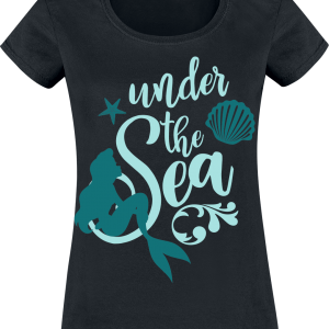 The Little Mermaid - Under The Sea - Girls shirt - black product image at Soundorabilia.com