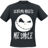 The Nightmare Before Christmas - Scaring Makes Me Smile - T-Shirt - black product image at Soundorabilia.com