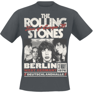 The Rolling Stones - Europe 76 - T-Shirt - charcoal product image at Soundorabilia.com