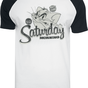 Tom and Jerry - Saturday Morning - T-Shirt - white-black product image at Soundorabilia.com