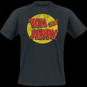 Tom and Jerry - Washed Logo - T-Shirt - black product image at Soundorabilia.com