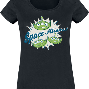 Toy Story - 4 - Aliens - Girls shirt - black product image at Soundorabilia.com
