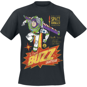 Toy Story - 4 - Buzz Lightyear - Deluxe Space Ranger - T-Shirt - black product image at Soundorabilia.com