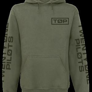 Twenty One Pilots - Circle Logo - Hooded sweatshirt - olive product image at Soundorabilia.com