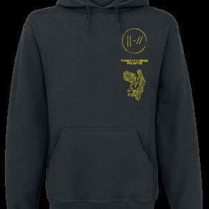 Twenty One Pilots - Flyer - Hooded sweatshirt - mottled black product image at Soundorabilia.com