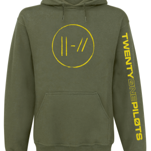 Twenty One Pilots - Jumpseal - Hooded sweatshirt - olive product image at Soundorabilia.com