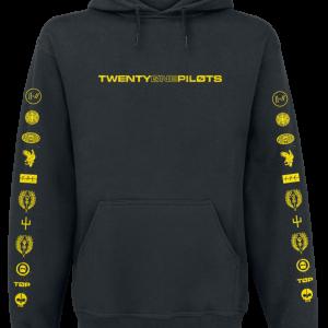Twenty One Pilots - Logo Heavy - Hooded sweatshirt - black product image at Soundorabilia.com