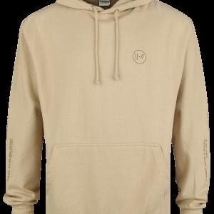 Twenty One Pilots - Logo Slash - Hooded sweatshirt - sand product image at Soundorabilia.com