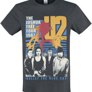 U2 - Amplified Collection - Bullet The Blue Sky - T-Shirt - charcoal product image at Soundorabilia.com