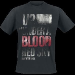 U2 - Under A Blood Red Sky - T-Shirt - black product image at Soundorabilia.com