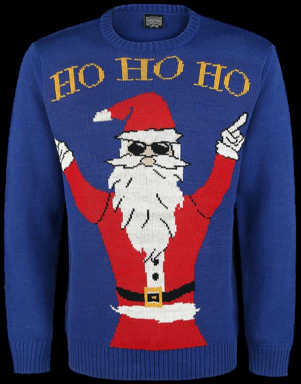 Ugly Christmas Sweater - Ho Ho Ho - Knit sweater - blue product image at Soundorabilia.com