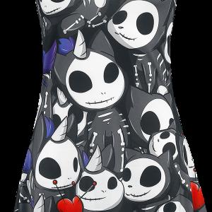 Unicorn - Bones - Girls Top - black-grey product image at Soundorabilia.com