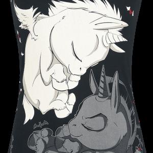 Unicorn - Dreaming Unicorns - Girls Top - black product image at Soundorabilia.com