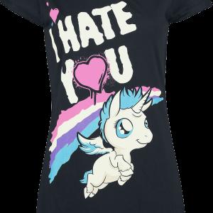 Unicorn - I Hate You - Girls shirt - black product image at Soundorabilia.com