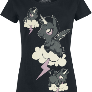 Unicorn - Sky - Clouds - Girls shirt - black product image at Soundorabilia.com