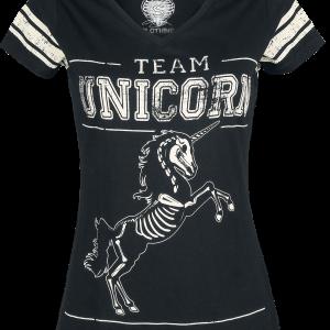 Unicorn - Team Unicorn - Girls shirt - black product image at Soundorabilia.com