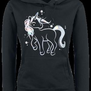 Unicorn - Unicorn Sparkle - Girls hooded sweatshirt - black product image at Soundorabilia.com