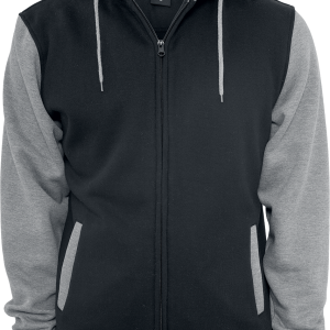 Urban Classics - 2-Tone Zip - Hooded zip - black-grey product image at Soundorabilia.com