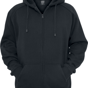 Urban Classics - Blank Zip Hoodie - Hooded zip - black product image at Soundorabilia.com