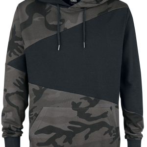 Urban Classics - Camo Zig Zag Hoody - Hooded sweatshirt - dark camo/black product image at Soundorabilia.com