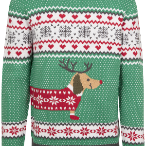 Urban Classics - Sausage Dog Christmas Sweater - Sweatshirt - green-white-red product image at Soundorabilia.com