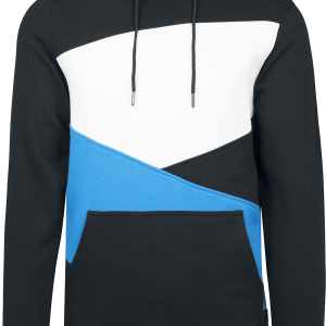 Urban Classics - Zig Zag Hoodie - Hooded sweatshirt - black-turquoise-white product image at Soundorabilia.com