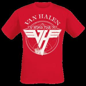 Van Halen - 1979 Tour - T-Shirt - red product image at Soundorabilia.com